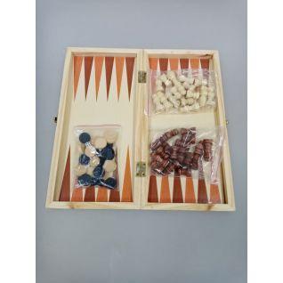 3 в 1 (шахматы, шашки, нарды) цветная 29*5*3 оптом