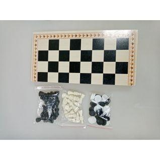 3 в 1 (шахматы, шашки, нарды) классика 39*20*5 оптом