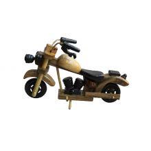 Мотоцикл деревянный малый